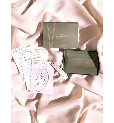 Vie Healing Or 24K Graines d'Oreille Kit HAPPY boîte de 20 pièces