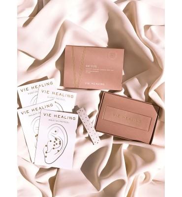 Vie Healing Or 24K Graines d'Oreille Kit DETOX boîte de 20 pièces
